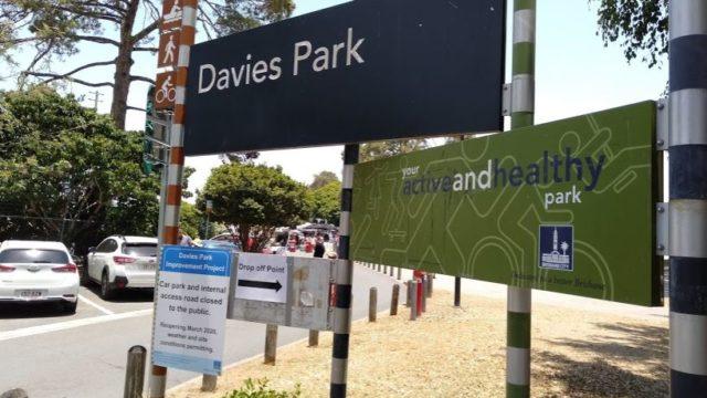Davis Park Marketの入り口付近