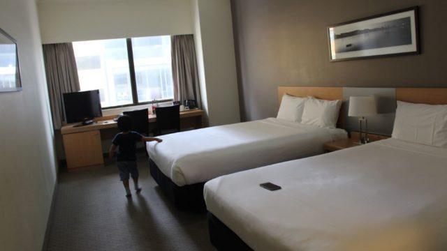 僕らが泊まったIbis Hotelの部屋