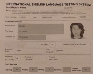 IELTS Academic Overall 6.5